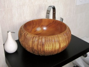Hand-carved Basin